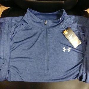 Under Armour Navy 2XL Heatgear Long Sleeve Shirt